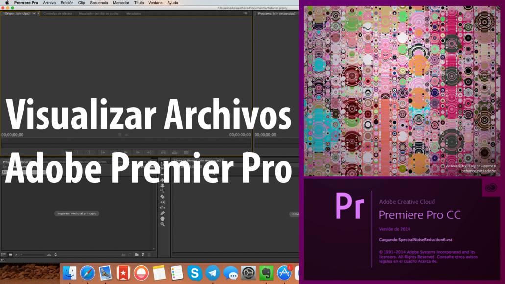 Visualizar Archivos, Tutorial Adobe Premier Pro CC