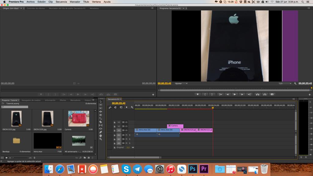 Herramientas de Edición, Tutorial Adobe Premier Pro CC