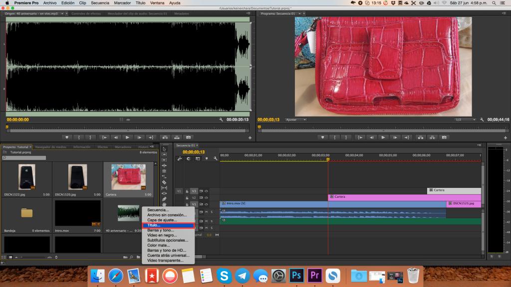 Crear Títulos y Textos, Tutorial Adobe Premier Pro CC