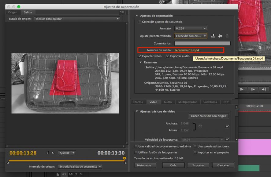 Exportar, Tutorial Adobe Premier Pro CC