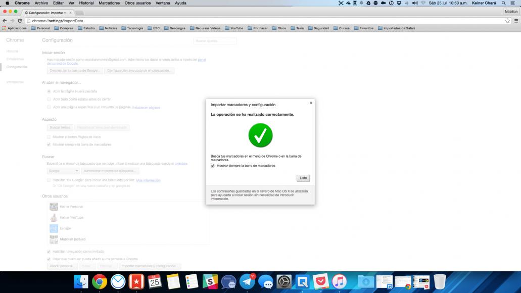Cómo importar marcadores de Safari a Chrome
