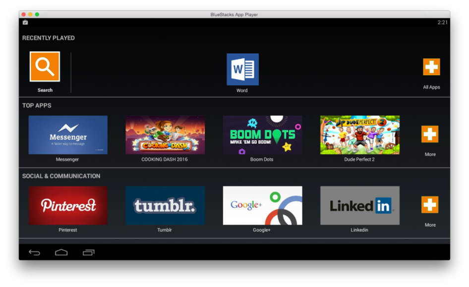 BlueStacks, Android