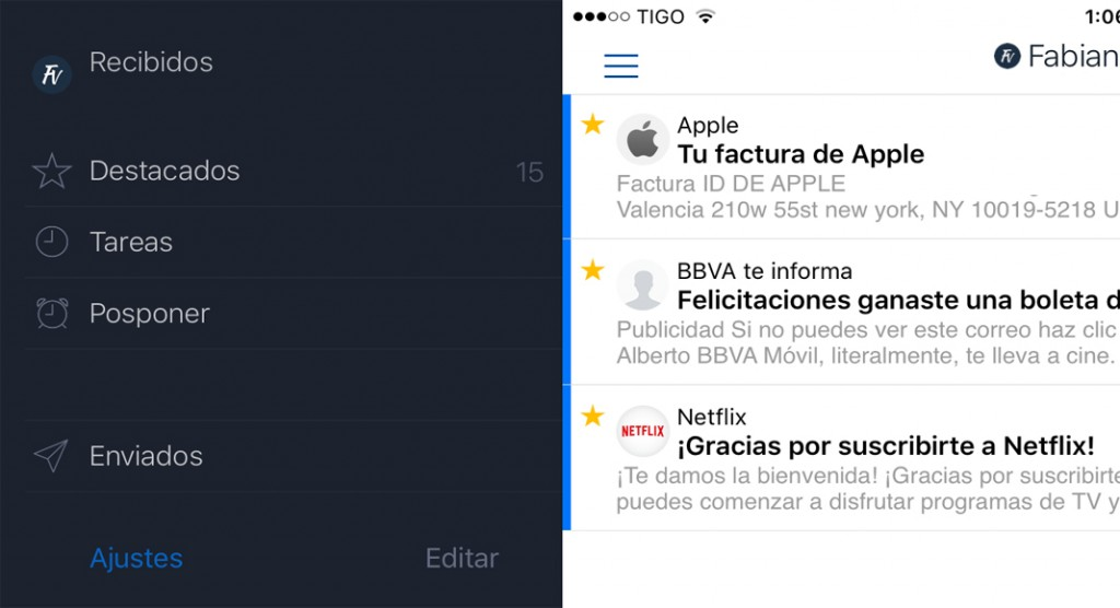 AirMail para iOS, una de las mejores aplicaciones para gestionar tu correo electrónico