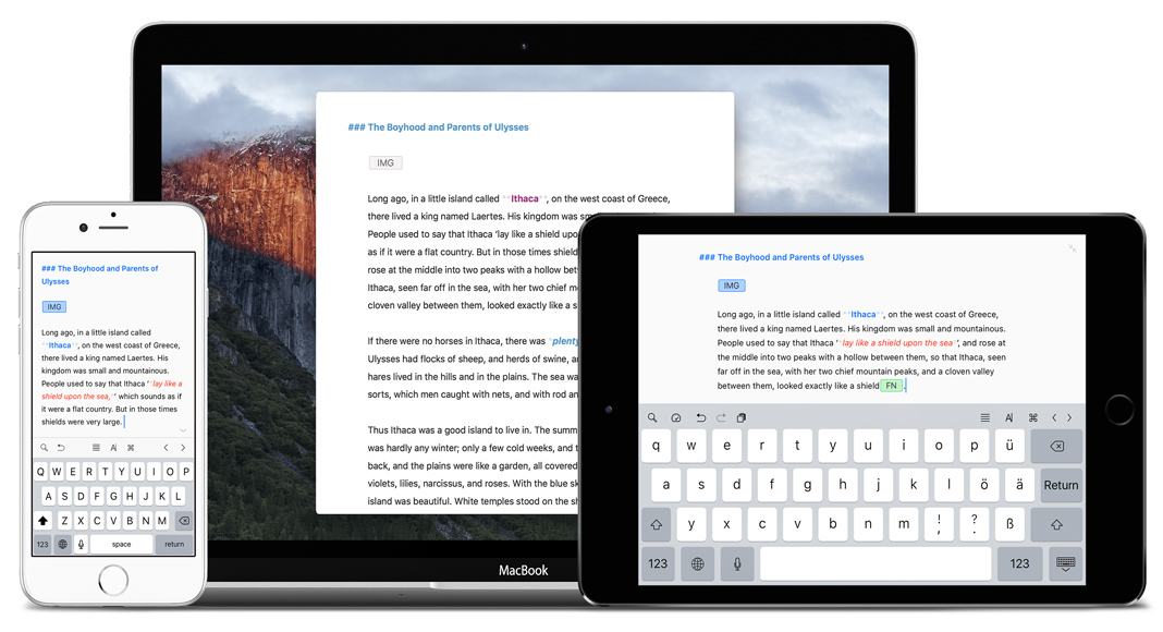 Ulysses llega al iPhone en la version 2.5