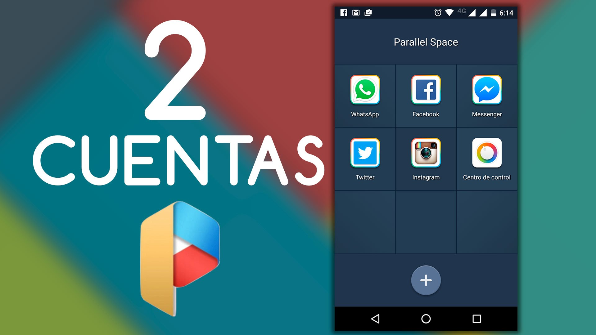 Parallel, 2 cuentas de una Red Social en Android