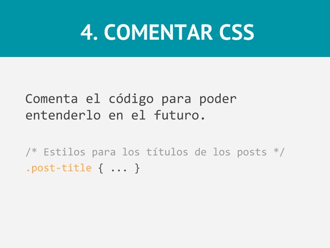Consejos para escribir como un experto CSS