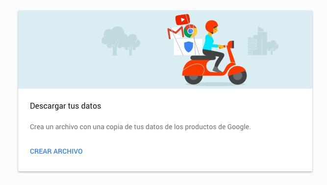 Descarga tus datos de Google o moverlos a otros servicios