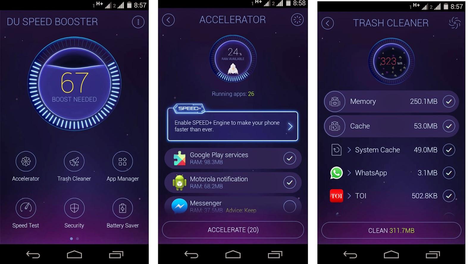 Aplicaciones para mejorar el rendimiento de tu Android