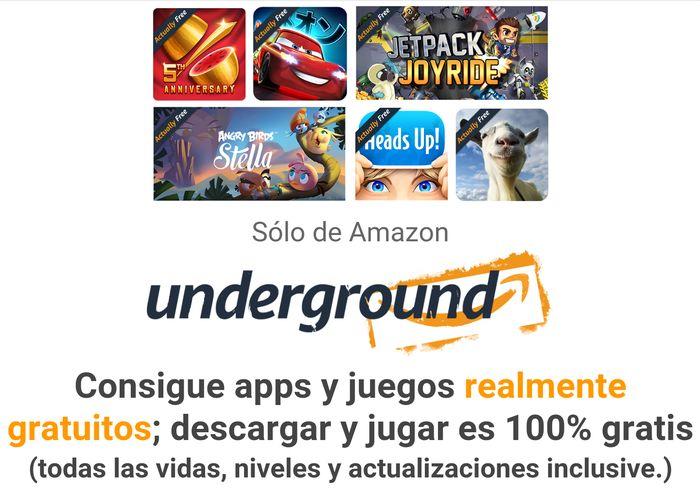 Amazon Underground, obtén apps de pago de manera gratuita