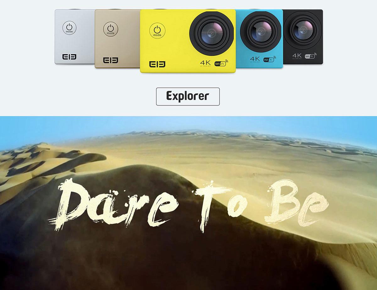 Cámaras de acción V3 4K, Elephone ELE Explorer 4K y W9C, en GearBest