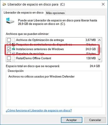 Recupera espacio que te ha quitado Windows 10 Anniversary Update