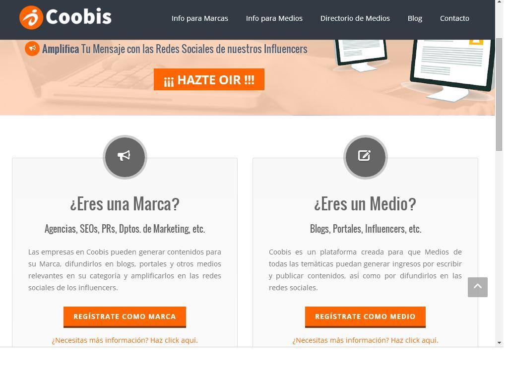 Coobis: La plataforma para el marketing de contenidos