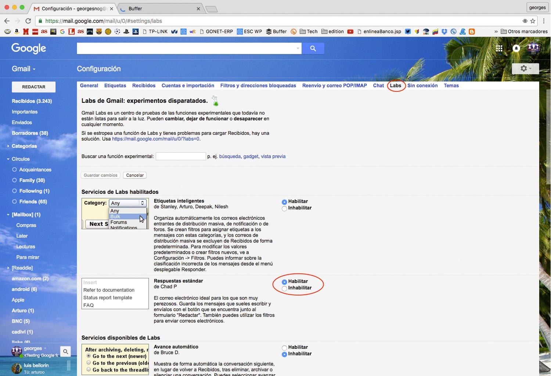 Como crear una Plantilla en Gmail | Escape Digital