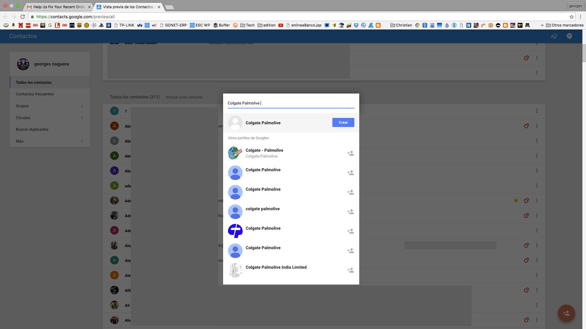 crear- contactos en gmail