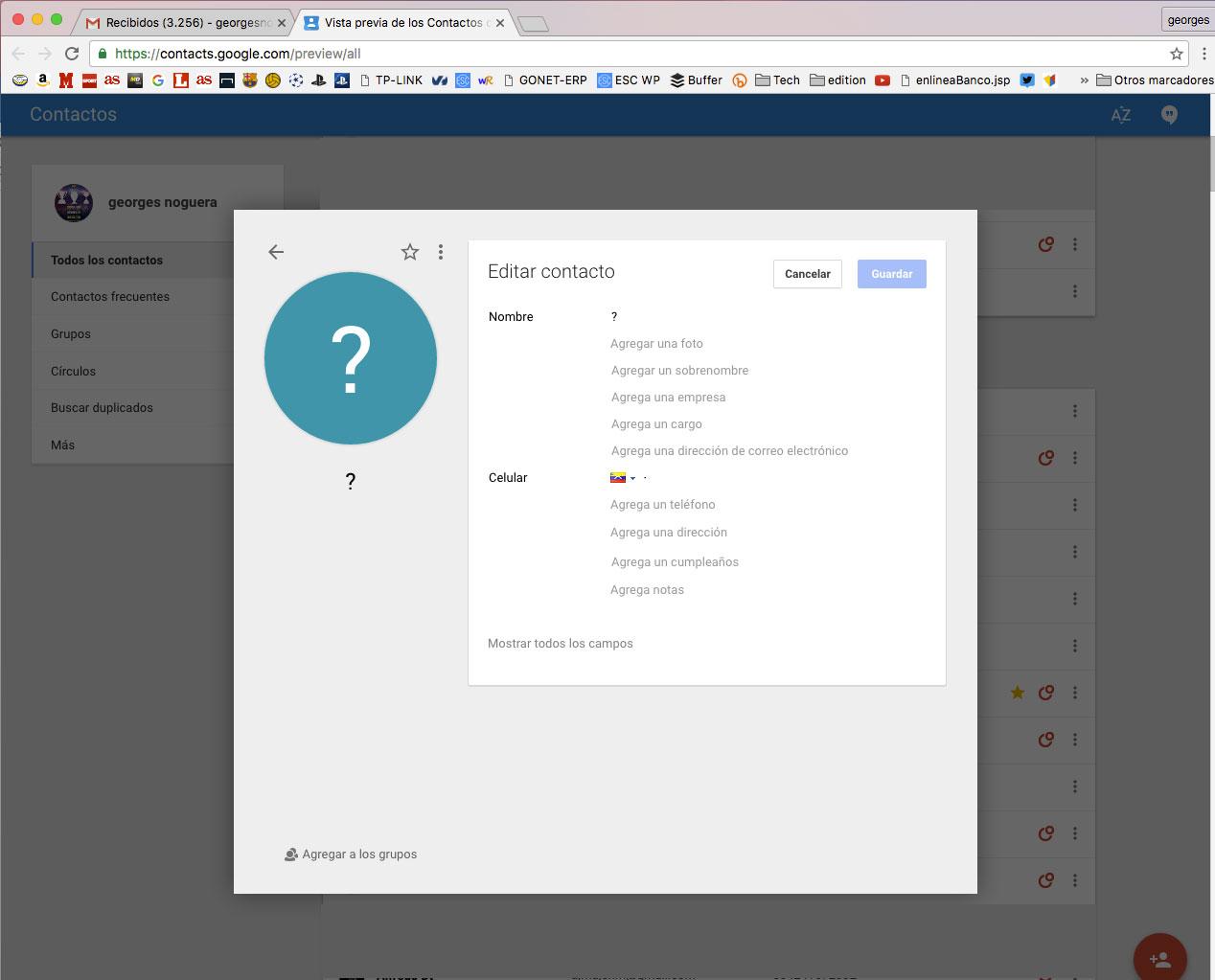 editar- contactos en gmail