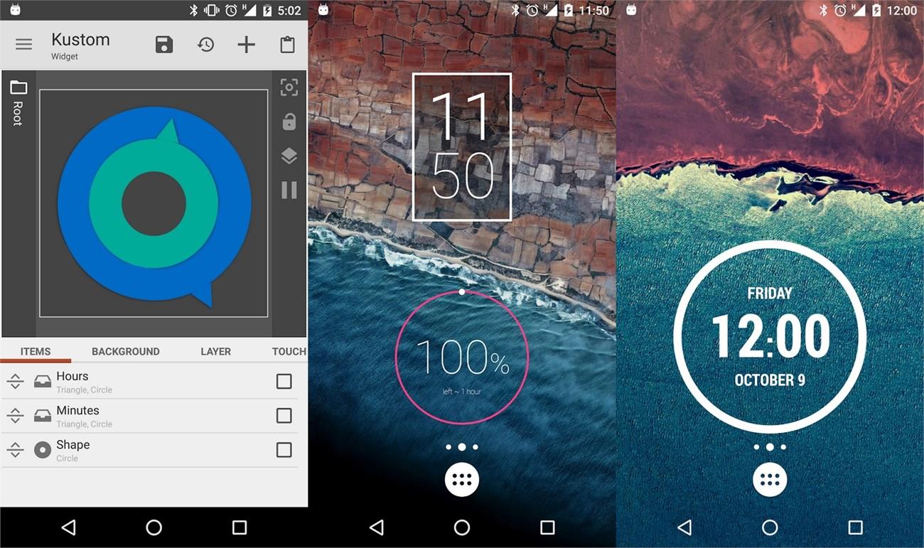 KWGT Kustom Widget Maker: Crea tus propios widgets para Android