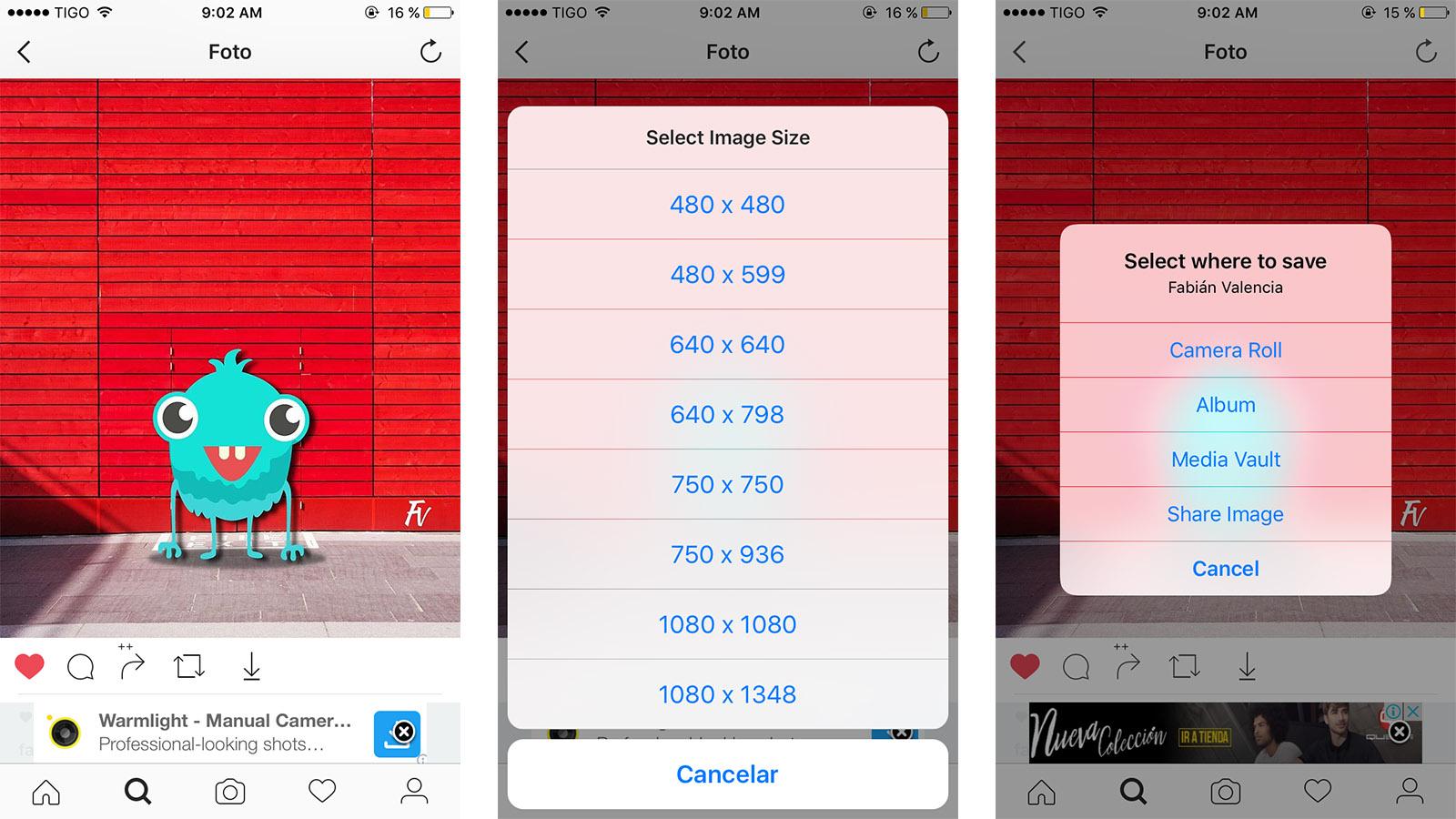 Cómo descargar fotos y vídeos de Instagram en iOS