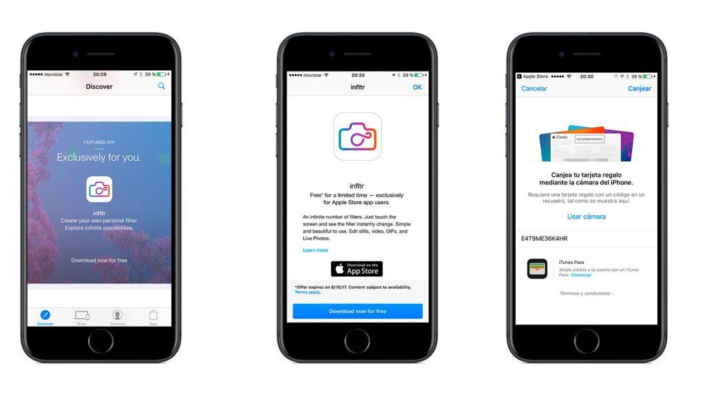 Infltr gratis en la Apple Store