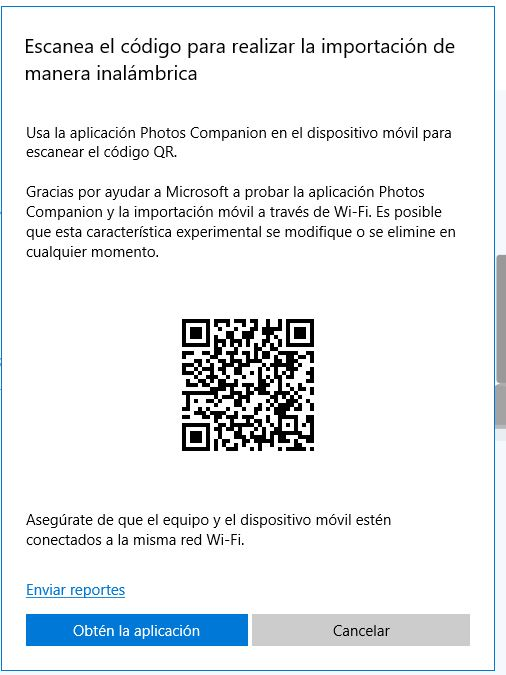 Transferir fotos del movil a PC via WIFI