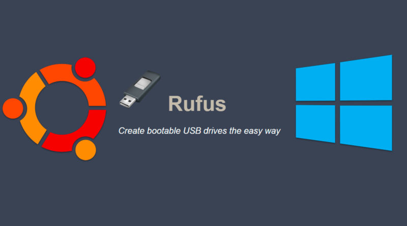 Crea un usb booteable de windows o linux con Rufus
