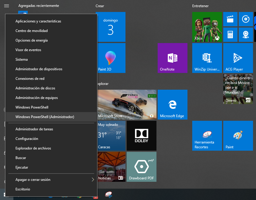 Compartir internet desde windows 10