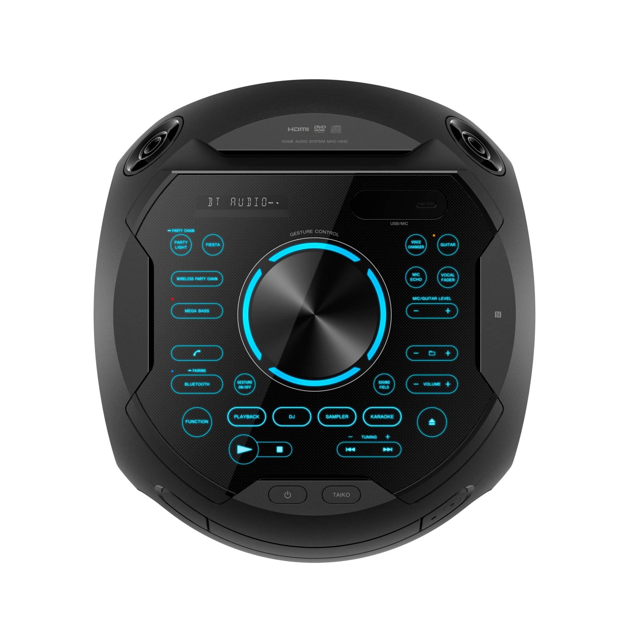 SONY MHC-V81D: El mejor sonido para la fiesta con luces de 360º