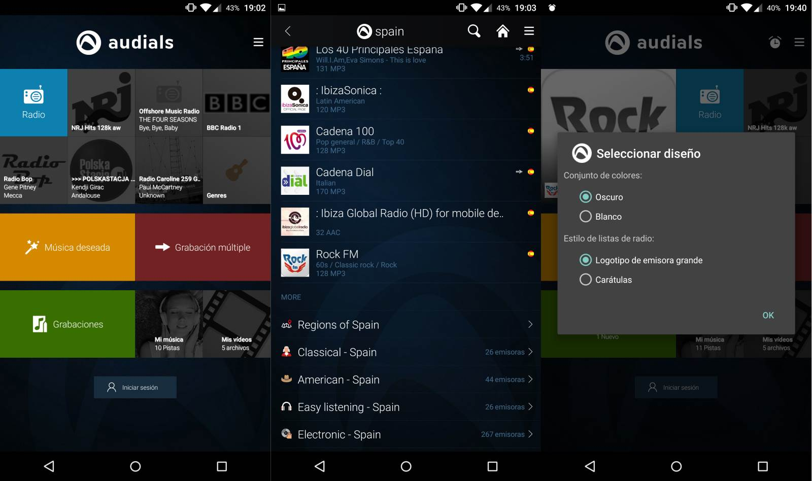 Audials Radio Player Recorder: La aplicación ideal de radio para Android