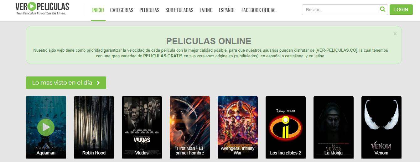 Paginas para ver  peliculas online en español gratis