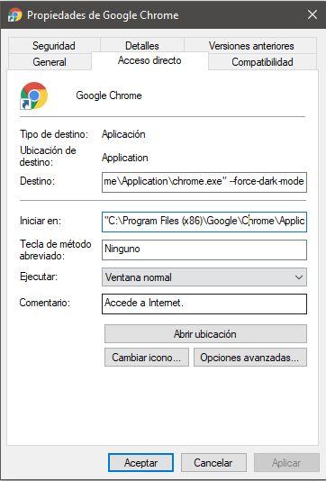 Como habilitar el tema oscuro en Google Chrome