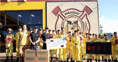 MOTI donó generosa ayuda al Departamento de Bomberos de Paraguay para ayudarlos a mejorar su capacidad de extinción de incendios