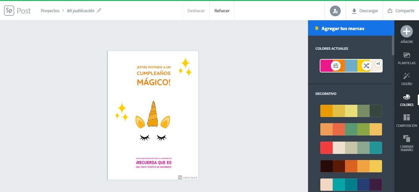 Crea tarjetas con frases de cumpleaños para un hijo online con Adobe Spark