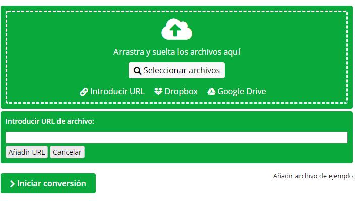 Conversor online para todos tus archivos