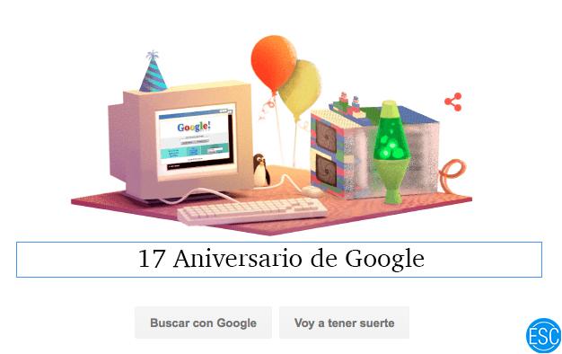 Doodle 17 Aniversario Google
