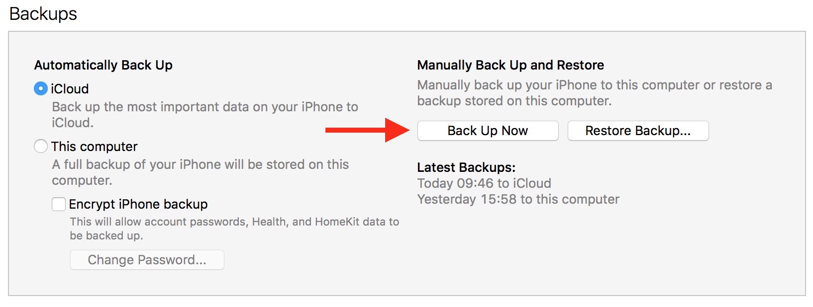 how to see what is in my icloud backup