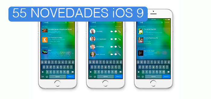 ESCAPE DIGITAL - 55 novedades de iOS 9