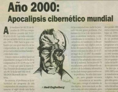 Artículo acerca del Efecto 2000 (Y2K)