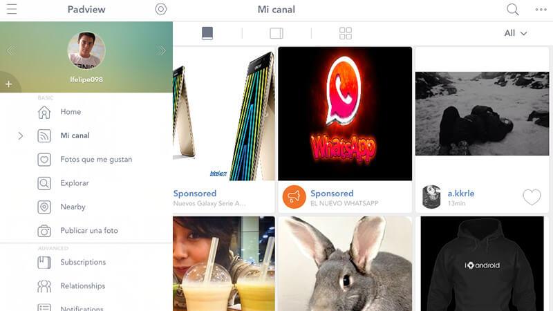 los mejores clientes de Instagram para iPad-Padview